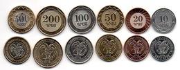 Armenia - Set 6 Coins 10 20 50 100 200 500 Dram 2003 - 2005 UNC Lemberg-Zp - Armenia