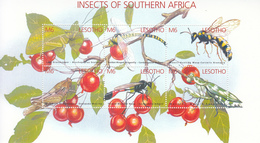 2002 Lesotho Insects Of Southern Africa  Miniature Sheet Of 6 MNH - Lesotho (1966-...)