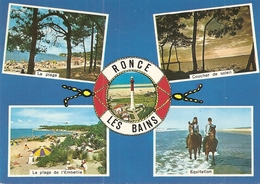 17. CPM. Charente Maritime. Ronce Les Bains. Au Centre, Le Phare De La Courbe (la Plage De L'Embellie, équitation (4vues - Frankrijk