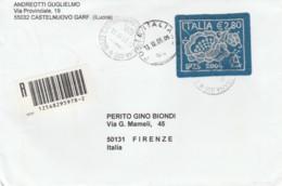 LETTERA 2004 2,80 E ARTE DEL MERLETTO  (EX148 - 6. 1946-.. Repubblica