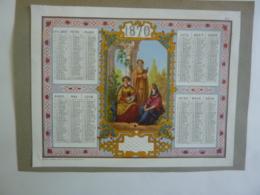 ALMANACH  1870 CALENDRIER Empire III  ALLEGORIE  La Sérénade  Edit Mayoux  Chemise  3-2 - Calendriers