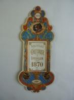 ALMANACH 1870 NOUVEAU  EFFEUILLER CALENDRIER Empire III  ARABESQUE ALLEGORIE  CHIEN   Edit Mayoux  Honoré  Che  3-4 - Calendriers