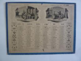ALMANACH 1870  CALENDRIER  SEMESTRIEL / CARTON    ALEGORIE  COMMERCE -Edit MAC -HENRY   Chem 3 6 - Calendriers