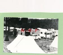Carte Photo - ANGELSEN - Angels  Luxembourg  - Camping 30 Mars  1963  - Tentes - Caravanes - Peugeot 403 - Cartes Postales