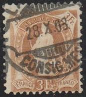 Schweiz, 28.10.1908, Lausanne, 100B, Stehende Helvetia, Vollstempel, Siehe Scan! - Used Stamps