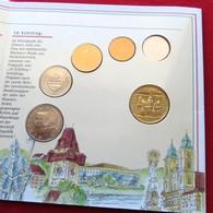 Austria 10 50 Groschen 1 5 10 20 Shilling 1995 Folder UNC - Autriche