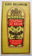 Grande Etiquette De GENIEVRE - SCHIEDAM DE KROON    Litho  / étiquette Label /A4 - Etiquettes
