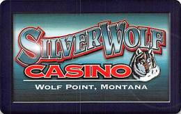 Silver Wolf Casino - Wolf Point Montana - Blank Slot Card With Barcode   ...[RSC]... - Casino Cards
