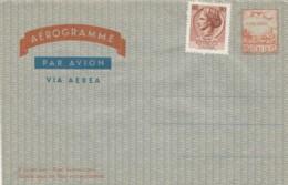 INTERO POSTALE AEROGRAMMA L.110 +90 NON VIAGGIATO (EX251 - 6. 1946-.. Repubblica