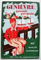 Grande Etiquette De GENIEVRE - Garanti Pur Grain - PLECY Frères à COUDEKERQUE-BRANCHE  / étiquette Label /A4 - Labels