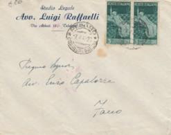 LETTERA 1947 2X3 L REP. SIENA TIMBRO PESARO (EX275 - 1946-.. République