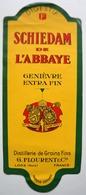 Etiquette De GENIEVRE - SCHIEDAM De L'ABBAYE - Distillerie G. FLOURENT à LOOS (Nord)  / étiquette Label /A4 - Etiquettes