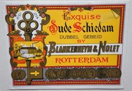 Etiquette De GENIEVRE - Exquise OUDE SCHIEDAM - Blankenheym & Nolet à Rotterdam       / étiquette Label /A4 - Etiquettes