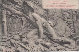 CPA Nouvelle Série Des Mineurs - The Coal - The Mine - Sans Feu (Mineur Perdu Sans Lumière ...) Légende Bilingue - Mines