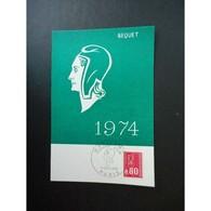 Carte Maximum Premier Jour De 1974 - Maximumkaarten
