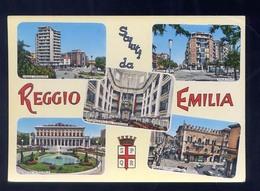 REGGIO EMILIA-SALUTI VEDUTINE- VIAGGIATA - Reggio Nell'Emilia