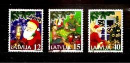 Latvia / Lettonia / Lettland – CHRISTMAS 1999 - SANTA KLAUS - MILLENIUM Used Stamp (0)  VERY RARE FULL SET - Latvia