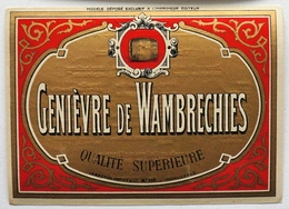 Etiquette Ancienne De GENIEVRE De WAMBRECHIES  (Lasseron - Dehon Valenciennes)  / étiquette Label /A6 - Etiquettes
