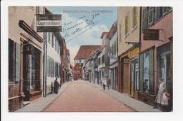 CPA ALLEMAGNE GRÛNSTADT Pfalz Hauptstrasse - Gruenstadt