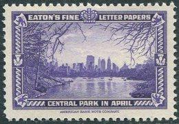 USA New York Central Park Lake Water Reservoir Pond Bassin Teich BOAT Bateau Boot  ** MNH Poster Vignette Reklamemarke - Ships