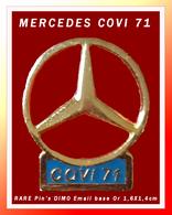 SUPER PIN'S MERCEDES : LOGO Etoile MERCEDES COVI 71 (Mâcon) Création DIMO (Besançon) Peu Courant, 1,6X1,4cm - Mercedes