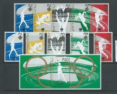 Seychelles 1988 Seoul Summer Olympic Games Set Of 5 Singles, Strip Of 5 & Miniature Sheet MNH - Seychelles (1976-...)