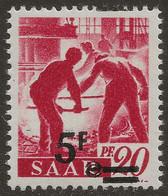Sarre N°222** 5fr/20pfg Papier Blanc Surcharge Et Valeur Très Déplacées TTB Signé - 1947-56 Occupation Alliée