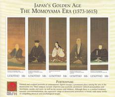 2001 Lesotho Japan Art Set Of 2 Miniature Sheets Of 5 MNH - Lesotho (1966-...)