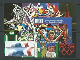 Chad Tchad 1982 Los Angeles Summer Olympic Games Athletics Miniature Sheet MNH - Chad (1960-...)