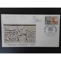 FDC - XXe Anniversaire Du Débarquement Allié - Oblit 6/6/64 Bayeux - FDC