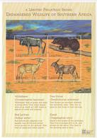 2000 Lesotho Endangered Wildlife Miniature Sheet Of 4 Eland Wildebeest Game MNH - Lesotho (1966-...)