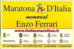 "Adesivo, ""Maratona D'Italia"" Memorial Enzo Ferrari, Carpi (MO) - Adesivi"