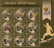 2010 Lesotho World Cup Football Miniature Sheet Of 9  MNH  DIFFICULT - Lesotho (1966-...)