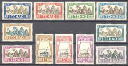 Tchad: Yvert N° Taxe 12/22**; MNH; Le 17 Petite Traces De Sur La Gomme - Neufs