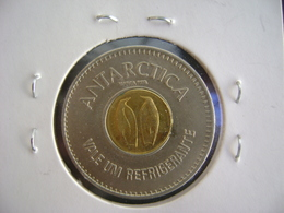 """BRAZIL - TOKEN OF ANTARCTICA BEVERAGES """"2 PENGUINS"""" IN THE STATE - Jetons & Médailles"""