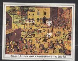 1979 Lesotho IYC Child Art Bruegel Souvenir Sheet Complete MNH - Lesotho (1966-...)