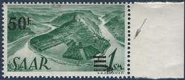 Sarre N°228** 50fr/1M Papier Blanc Surcharge Et Valeur Très Déplacées TTB Signé - 1947-56 Occupation Alliée