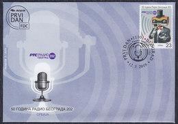 Serbia 2019 Radio Beograd 202 - 50 Years, FDC - Serbie