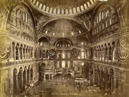 Turquie Constantinople Interieur Mosquée Ste Sophie Ayasofya Ancienne Photo 1870 - Photographs