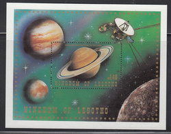 1981 Lesotho Space Astronomy Complete Strip Of 5 + Souvenir Sheet MNH - Lesotho (1966-...)