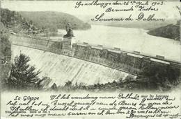 LA GILEPPE - Le Mur Du Barrage - Oblitération De 1903 - Gileppe (Barrage)