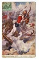 """Carte Illustrée Par J. A. Stewwart """"The King's Army, 1857"""" 52nd Light Infantry  At Dehli, Charge Soldat Anglais - 1909 - Autres Illustrateurs"""