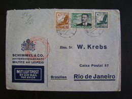 GERMANY - LETTER SENT FROM LEIPZIG TO RIO DE JANEIRO (BRAZIL) IN 1938 IN THE STATE - Covers & Documents