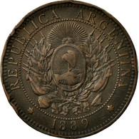 Monnaie, Argentine, 2 Centavos, 1889, TTB, Bronze, KM:33 - Argentine