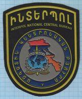 ARMENIA / Patch Abzeichen Parche Ecusson / INTERPOL NATIONAL CENTRAL BUREAU . Police. - Blazoenen (textiel)