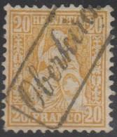 Schweiz, 1862, Oberkirch, 32, Sitzende Helvetia, Vollstempel, Siehe Scan! - 1862-1881 Sitzende Helvetia (gezähnt)