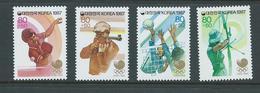South Korea 1987 Seoul Olympics October 80w + 50w Surtax Set Of 4 MNH - Korea, South