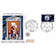 FDC JF - Le Grand Orient De France - 12/5/1973 Paris - FDC