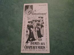 """Le PARAMOUT , 2 Boulevard Des Capucines à PARIS - """"Ces Dames Aux Chapeaux Verts"""" - Programmes"""