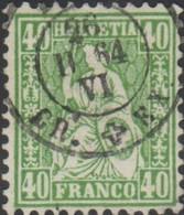 Schweiz, 26.2.1864, 34, Sitzende Helvetia, , Siehe Scan! - Used Stamps